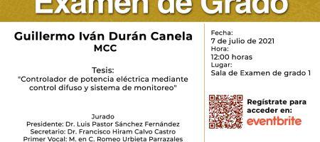 Examen Guillermo Duran